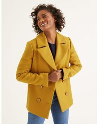 Boden Seacole Pea Coat Yellow - Orange