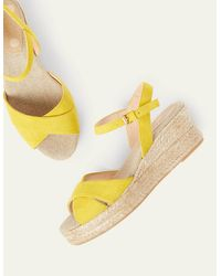 Boden Jasmine Espadrille Wedges Chartreuse - Yellow