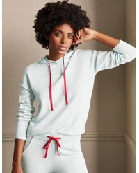 Boden Knitted Relaxed Hoodie Fresh Water , Fresh Water - Blue