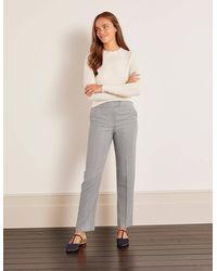 Boden Kennford Tweed Trousers - Grey