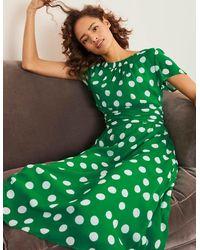 Boden Carey Dress Rich Emerald, Brand Spot - Green