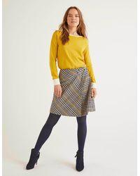 Boden Eleanor Tweed Kilt Prince Of Wales - Yellow