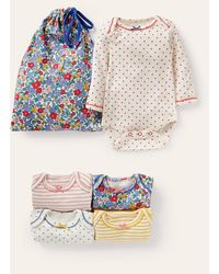 Boden Floral Bodies 5 Pack Multi Apple Blossom Floral , Multi Apple Blossom Floral - Blue