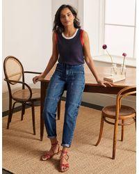 Boden Big Pocket Balloon Jeans Mid Vintage - Blue
