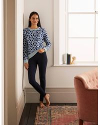 Boden High Rise Jersey Leggings - Blue