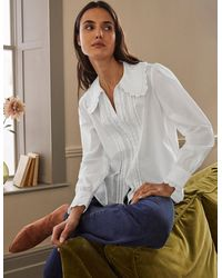 Boden Chemise Clare à broderie anglaise - Blanc
