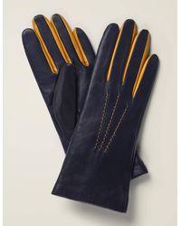 Boden Leather Gloves - Blue