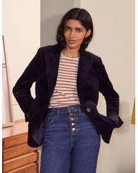 Boden Victoria Cord Blazer - Blue