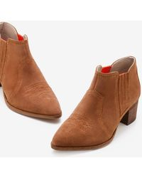 Boden Clifton Ankle Boots Tan - Brown