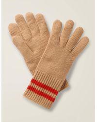 Boden Cashmere Gloves Brown - Multicolour
