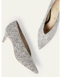 Boden Natalie Kitten Heels Dalmatian - White