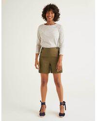 Boden Falmouth Linen Shorts Classic - Natural
