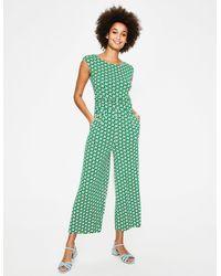 Boden Luna Jersey Jumpsuit - Green