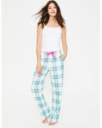 Boden Suzie Pj Bottoms And Pop Pansy Check - Green