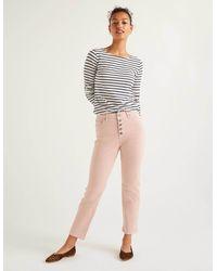 Boden Straight Leg Jeans Milkshake/ivory - Pink