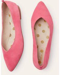 Boden Chaussures plates Julia à bout pointu - Rose