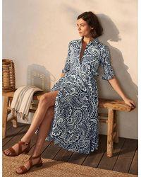 Boden Kitty Midi-Hemdblusenkleid BLU - Blau