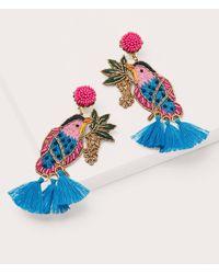 Boden Boucles d'oreilles ornementées à perles - Bleu