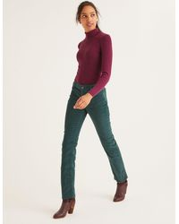 Boden Cord Slim Straight Jeans Woodland Green