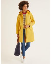 Boden Suki Waterproof Coat Yellow - Orange