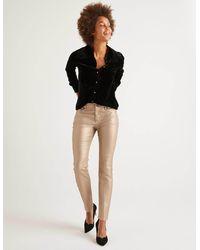 Boden Metallic Skinny Jeans Gold Metallic