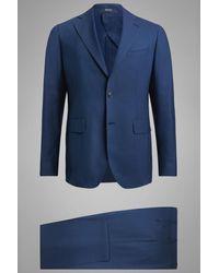 BOGGI Abito bluette capri in lana machine washable
