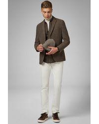 BOGGI Blazer tortora bari in jersey di lana - Multicolore