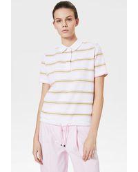 Bogner Simona Polo Shirt In White/green/pink