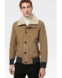 Bogner Delv Lambskin Leather Jacket In Camel - Natural