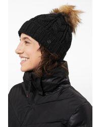 Bogner - Vineta Knitted Hat In Black - Lyst
