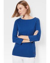 Bogner Louna Long-sleeve Top In Azure Blue