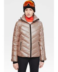 Bogner Sassy Down Ski Jacket In Champagne Pink - Brown
