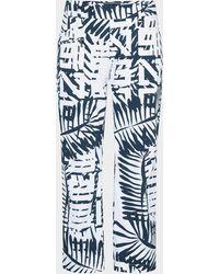 Bogner Rika 7/8 Functional Trousers In Navy Blue/white