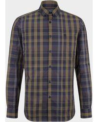 Bogner Timi Shirt In Blue/olive Green