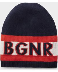 Bogner - Laris Knitted Hat In navy Blue/red - Lyst