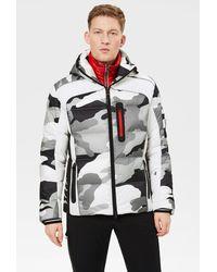 Bogner Jay Down Ski Jacket In Off-white/black/gray - Multicolor
