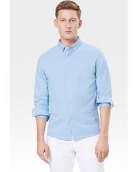 Bogner Franz Piqué Shirt In Light Blue