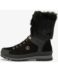Bogner - St. Anton Boots With Fur Trim In Black - Lyst