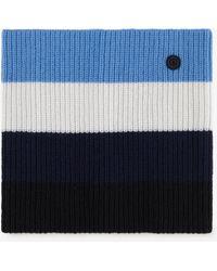 Bogner - Jimena Loop Scarf In Black/blue/white - Lyst