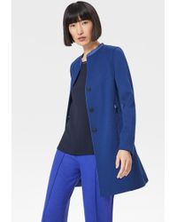 Bogner Bailey Short Coat In Atlantic Blue