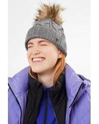 Bogner - ??vineta Knitted Hat In Gray - Lyst