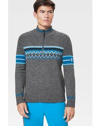 Bogner - Adrian Knit Pullover In Dark Grey/blue - Lyst