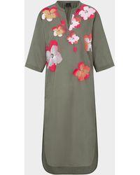 Bogner Nelia Shirt Dress In Olive Green