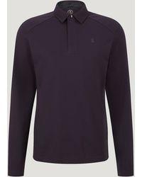 Bogner Timon Long Sleeved Polo Shirt - Purple