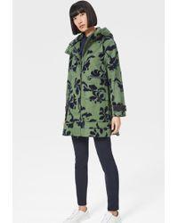Bogner Rena Short Coat In Green/dark Blue