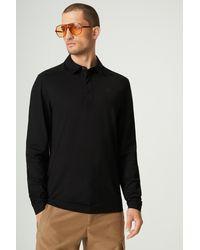 Bogner Timon Long Sleeved Polo Shirt - Black