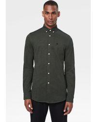Bogner Timi Piqué Shirt In Olive Green/black