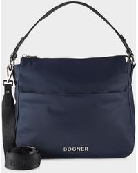 Bogner Klosters Isalie Hobo Bag In Navy Blue
