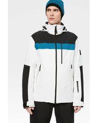 Bogner Fire + Ice Damian Ski Jacket In Off-white/black