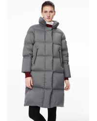 Bogner Ayda Down Coat In Graphite Grey